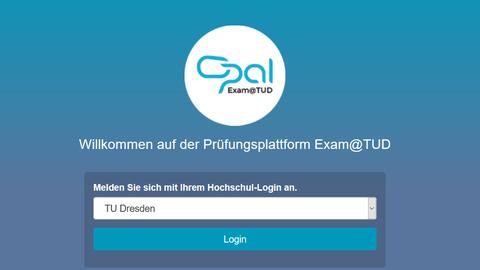 Exam-Bildschirm
