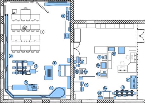 laboratory's floor plan