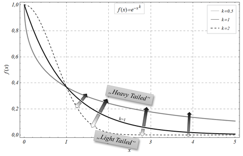 Spezifische Randbereichsmodellierung mit Hilfe endlastiger Verteilungen (heavy tailed distributions)