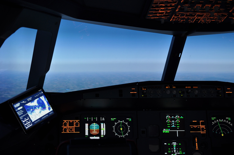 Image of the IFL A320 simulation environment