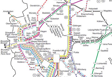 Zugliniennetz