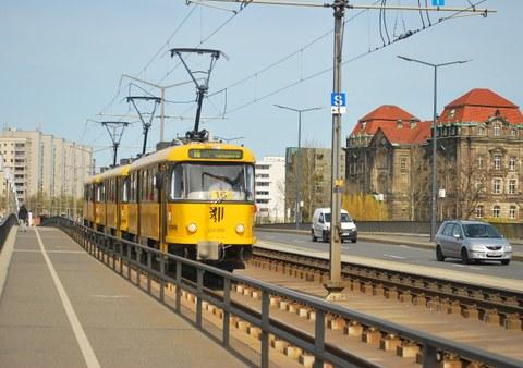 Straßenbahnzug Dresden