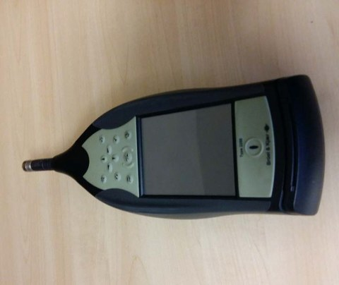 The picture shows a mobile sound measuring device (Type 2250-S).