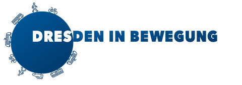 """The picture shows the logo that was developed for the project """"Dresden in Bewegung""""."""