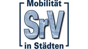 """Die Grafik zeigt das Logo der Erhebung """"Mobilität in Städten – SrV""""."""