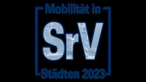 """Das Bild zeigt das Logo der Erhebung """"Mobilität in Städten – SrV 2023""""."""