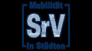 """Das Bild zeigt das Logo der Erhebungsreihe """"Mobilität in Städten – SrV""""."""