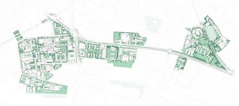 Untersuchungsgebiet Masterplan Campusgestaltung
