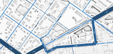 bikeSim Straßennetz