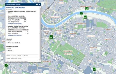 Auszug aus dem Themenstadtplan der Landeshauptstadt Dresden