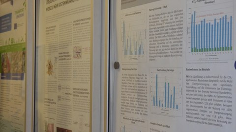 Foto stellt Plakate zu ausgewählten Projekten dar