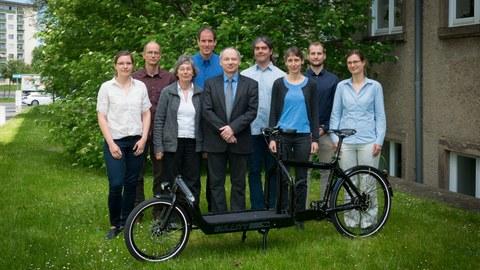 Gruppenbild der Professur für Verkehrsökologie