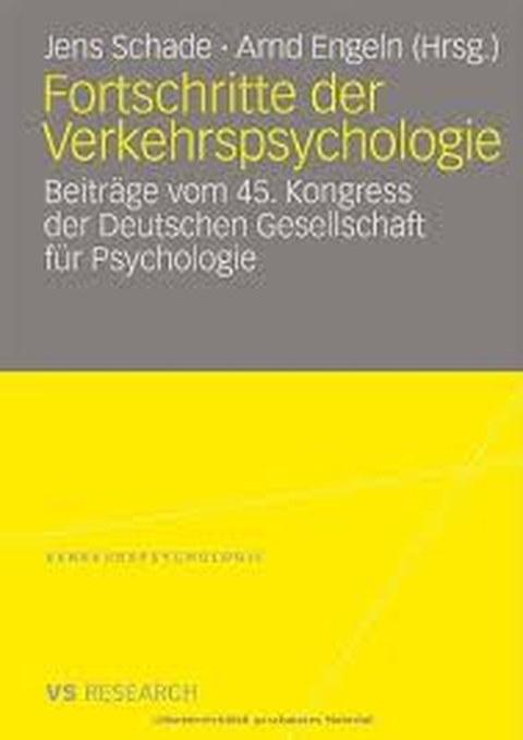 Buchtitel: Fortschritte der Verkehrspsychologie