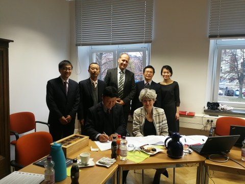 Delegation der SVTCC-Hochschule