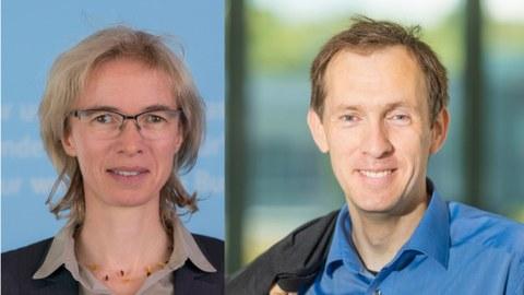 Porträtfotos von Regine Gerike und Marc Timme nebeneinander.