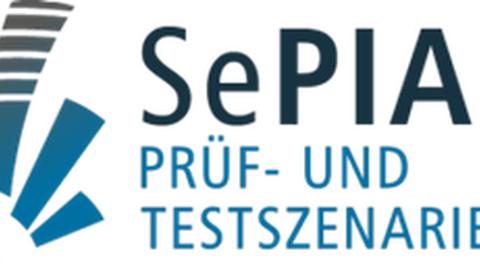 Logo mit Schriftzug Sepia