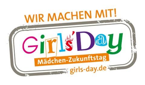 Grafisches Logo mit Schriftzug zum Girls' Day