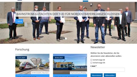 Screenshot vom Online-Magazin mit einem breiten Bild oben mit einer Tram und Text und Fotokästchen drunter