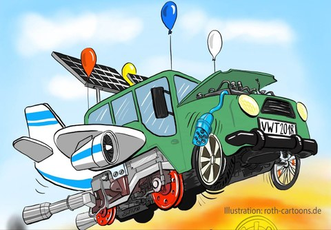 Cartoon Grenzenlos(er) Verkehr