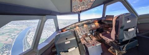 Flugsimulator A320 Schaltpult