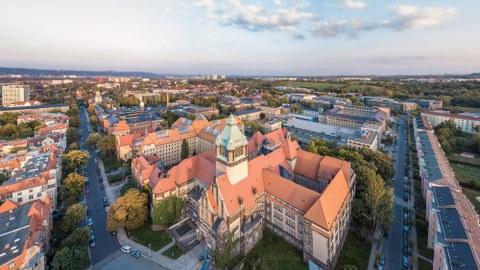Aerial View Muenchner Platz