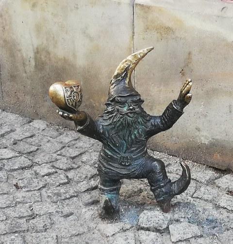Zwergenfigur in Breslau