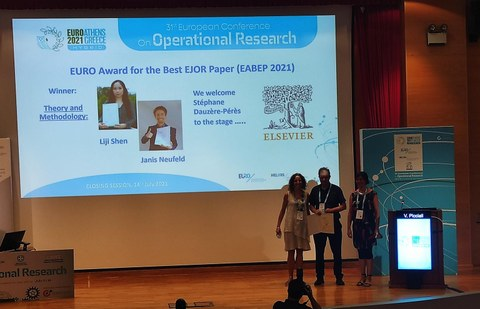 Award Ceremony EJOR Best Paper