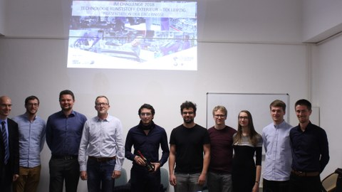 Group picture: Participants of the final event of the IM Challenge 2018