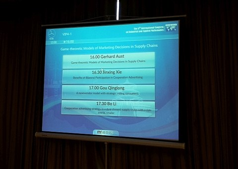 Agenda des Minisymposiums