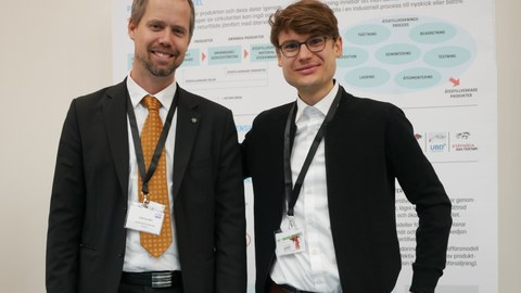 Franz Ehm and conference chair Erik Sundin