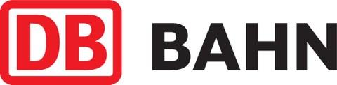 Logo DB (red) Bahn (black)