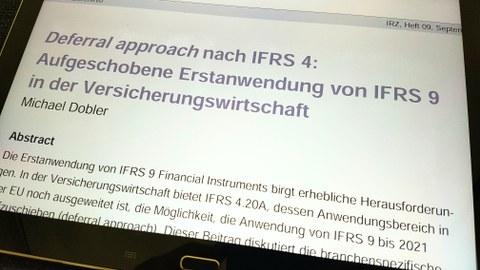 Veröffentlichung des Lehrstuhls zeigt: Deutsche und österreichische Kernversicherer schieben Erstanwendung von IFRS 9 auf