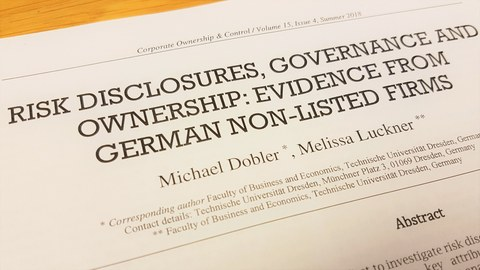 Risk disclosures, governance and ownership - Evidence from German non-listed firms