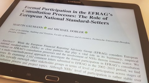 Formal Participation in the EFRAG's Consultation Processes: The Role of European National Standard-Setters