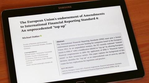 "The European Union's endorsement of Amendments to International Financial Reporting Standard 4: An unprecedented ""top up"""