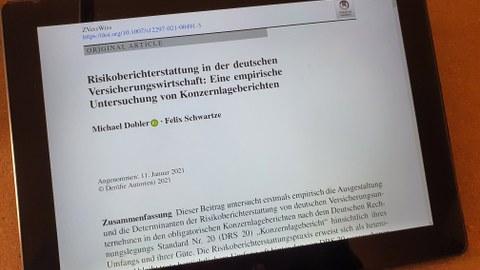 Risikoberichterstattung in der deutschen Versicherungswirtschaft