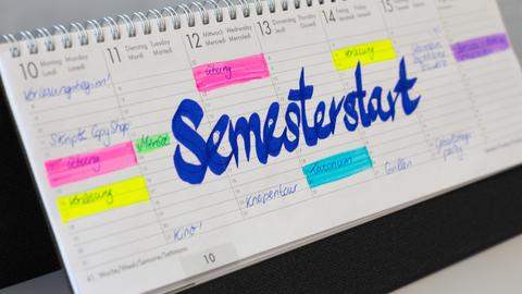 Kalender Semesterstart