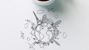 Es ist eine Karte und eine Tasse zu sehen