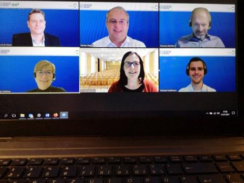 Screenshot von einer Videokonferenz
