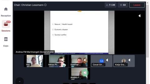 PC-Screenshot mit Workshopteilnehmern