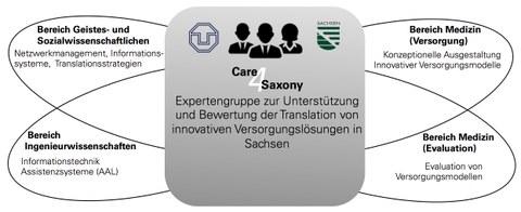 Care4Saxony - Bereiche