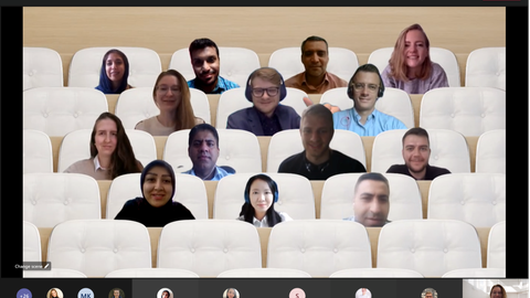 Virtual classroom during the pitch presentations