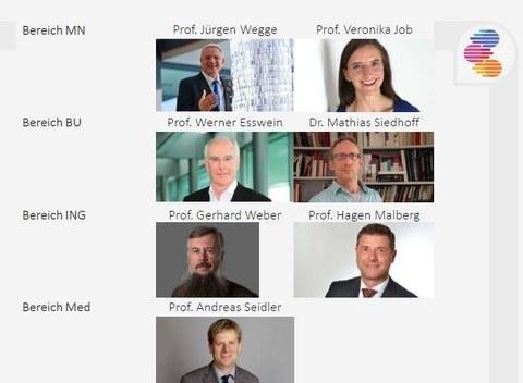 Die Vorstandsmitglieder des CDD