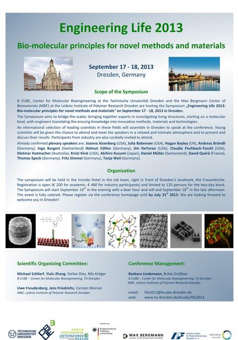 2013- Bio-molecular principles for novel methods and materials
