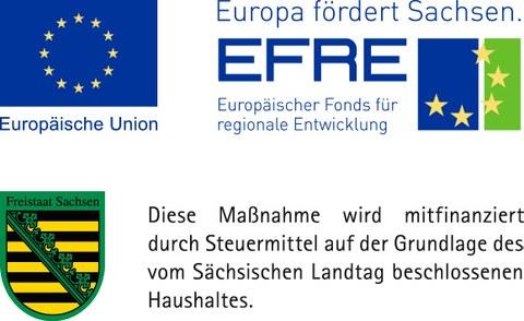 Logo EU EFRE / Freistaat Sachsen