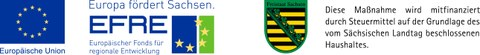 Förderung Logo EU EFRE / Freistaat Sachen (quer)