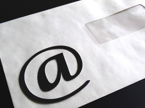 Letter with E-Mail symbol