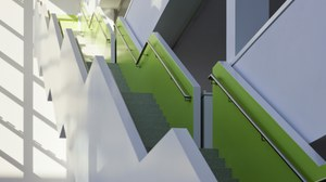 Photo of CRTD hall with stairs