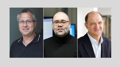Prof. Nils Kröger, Prof. Jochen Guck, Prof. Ezio Bonifacio (von links nach rechts)