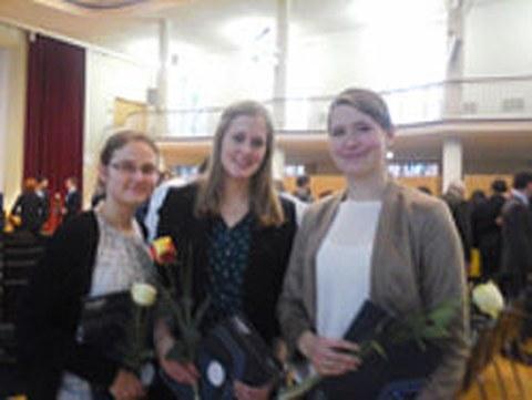 Maria Elsner, Lisa Kube and Jana Sievers